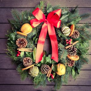 Classic Wreath by Lily Anstee Flowers