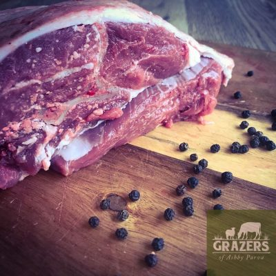 Shoulder of mutton on the bone